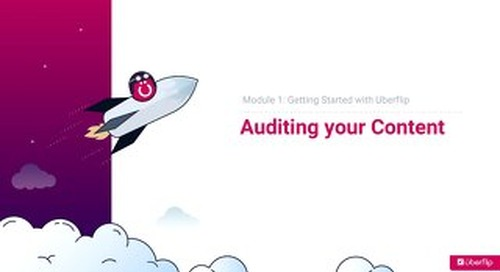 Auditing your Content - Slides
