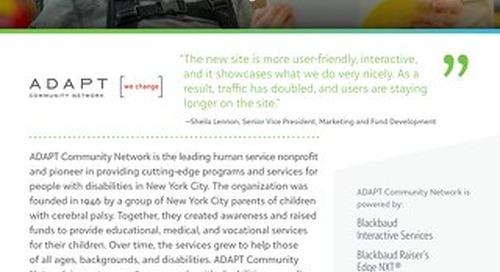 New Website Design for Adapt Community Network
