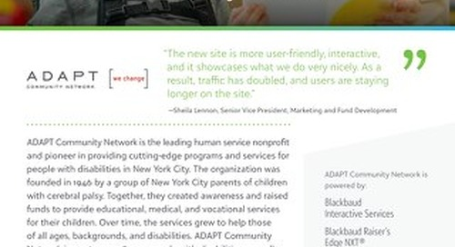 New Website Design for Adapt Community Network