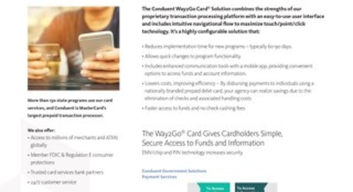 Way2Go Card® Solution Overview