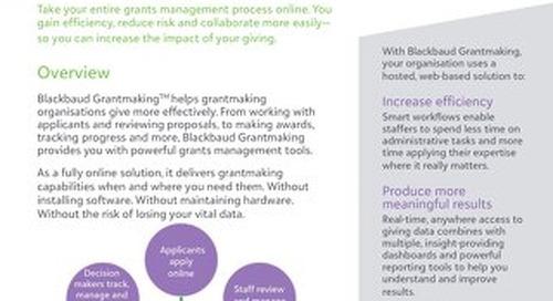 Blackbaud Grantmaking Overview