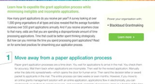 Tipsheet: Stop Sifting Through Grant Applications