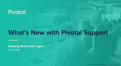 What's New with Pivotal Support?
