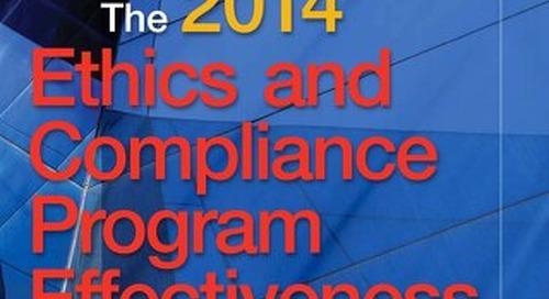 2014 E&C Program Effectiveness Report
