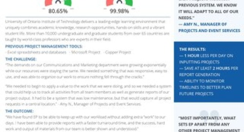 UOIT Easy Projects Case Study