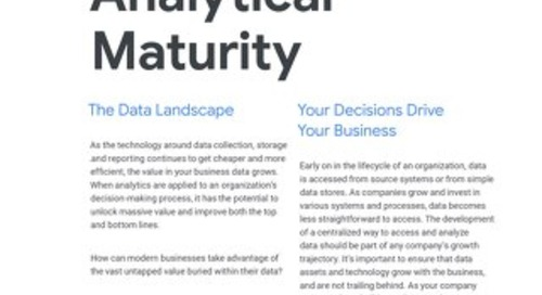Analytical Maturity