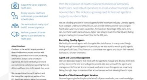 Providing Licensed Agents for Healthcare