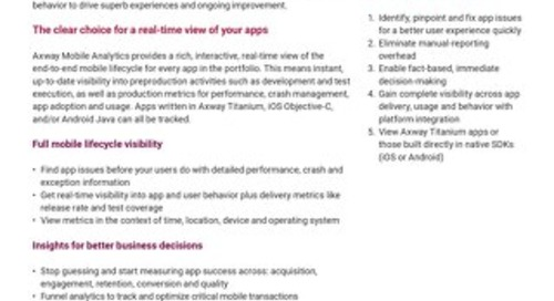 Axway Mobile Analytics