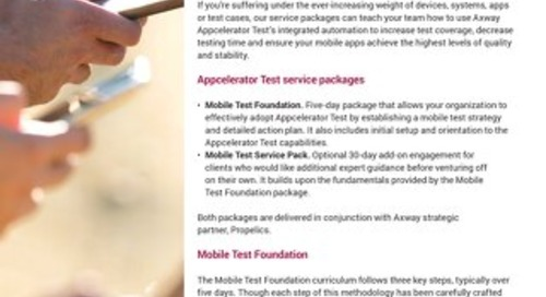 Axway Appcelerator Test – Mobile Test Services