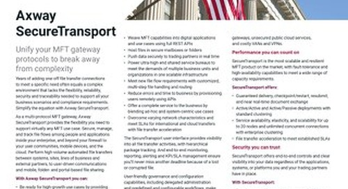 Axway SecureTransport for U.S. Federal Government