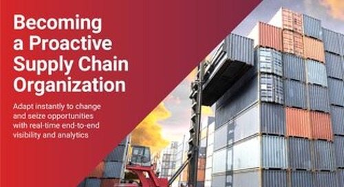 Becoming a Proactive Supply Chain Organization