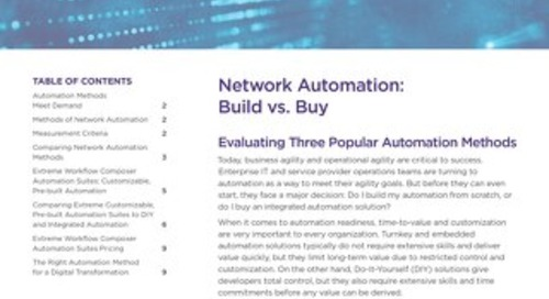 Network Automation: Build vs. Buy