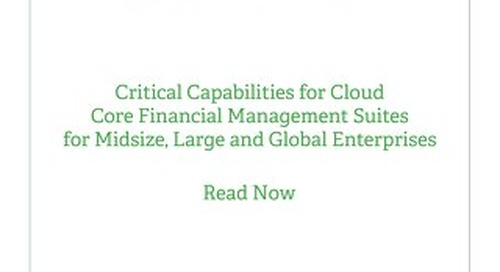 Gartner Critical Capabilities 2018
