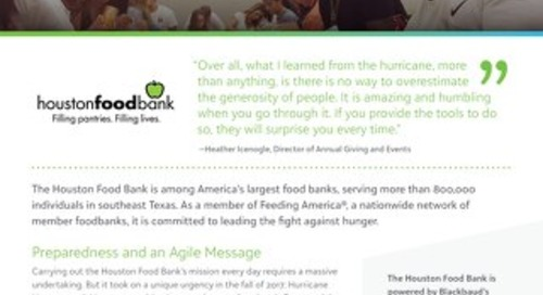 Customer Spotlight - Houston Food Bank