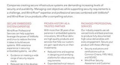 Security Expertise from Wind River Professional Services