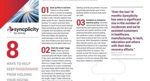 8 consejos de prevención y recuperación contra Ransomware