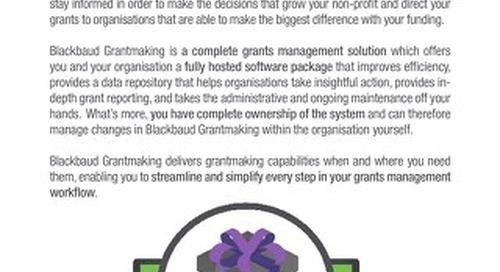 Grantmaking datasheet