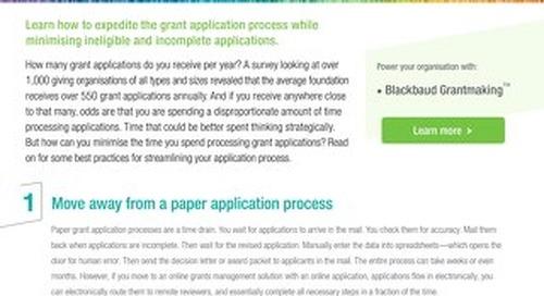 Spending Time Sifting through Grants - Tipsheet