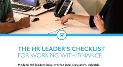 The HR Leader's Checklist for Working With Finance