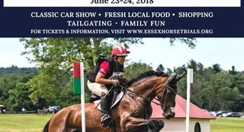 Essex Horse Trials 2018 Newspaper Insert