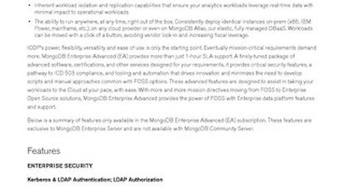 MongoDB Enterprise Advanced for Federal Agencies