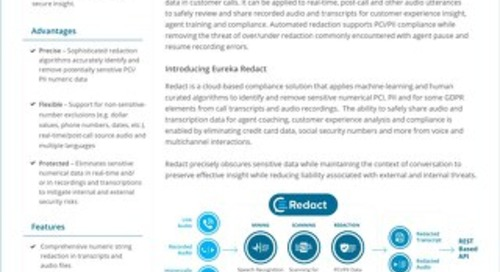 Eureka Redact datasheet