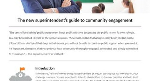 The new superintendents guide to community engagement
