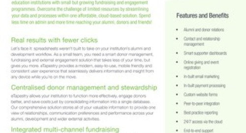 eTapestry Datasheet Education