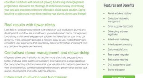 eTapestry Datasheet Education - Detailed