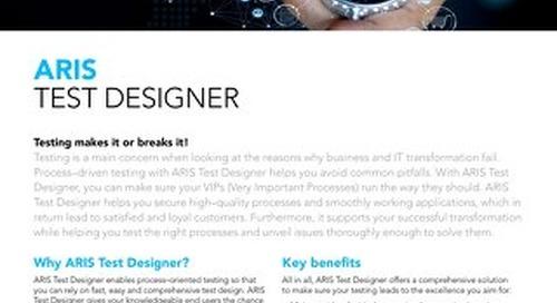 Facts about ARIS Test Designer