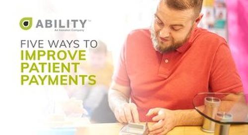 5 Ways to Improve Patient Payment