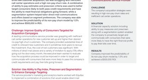 Ability to Pay Plus Prescreen - Communications Case Study