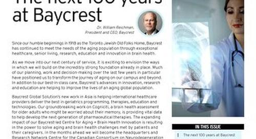Baycrest Impact Bulletin - SUMMER 2018