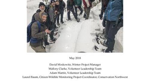 2017-18Winter Field Season Citizen Wildlife Monitoring Project Report
