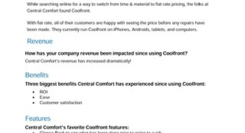 Central Comfort Case Study