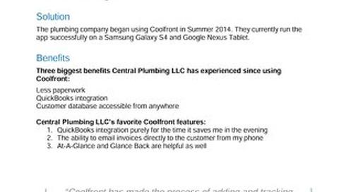 Central Plumbing LLC Case Study