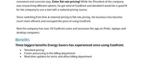 Energy Savers Case Study