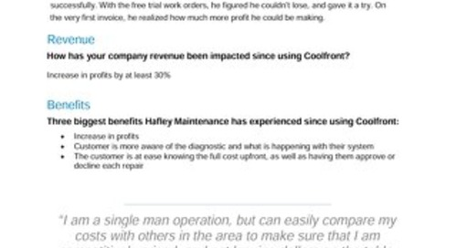 Hafley Maintenance Case Study