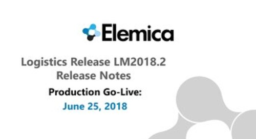 [RELEASE NOTIFICATION] Elemica Logistics Management PROD Release ¬ 23-JUNE-2018