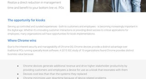 Google Chrome: Kiosk TCO