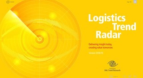 Logistics trend radar. Delivering insights today.