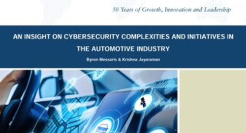White Paper: An insight on cybersecurity complexities and initiatives in the automotive industry