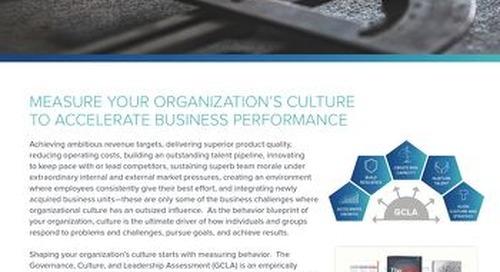 Governance, Culture & Leadership Assessment
