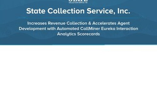 State Collection Service, Inc. Increases Revenue Collection & Accelerates Agent Development