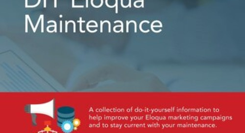 DIY Eloqua Maintenance