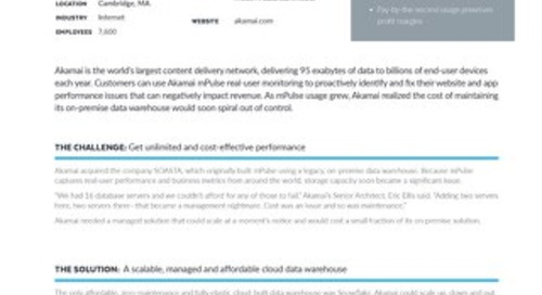 Akamai Case Study - Optimizing web and mobile application performance with powerful analytics