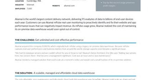 Akamai: Optimizing Web and Mobile Application Performance with Powerful Analytics