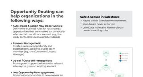 Opportunity Routing Datasheet