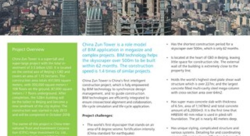 BIM Technologies Applied in Construction Phase of China Zun Tower
