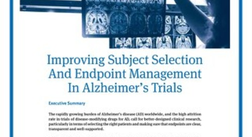 Improving Subject Selection and Endpoint Management in Alzheimer's Trials